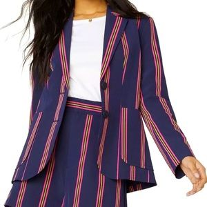 BB Dakota Put A Pin In It Striped Blazer Small